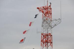 信号旗がはためいていました