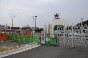駅前広場に続く「区画2号線」
