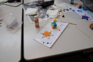 オレンジを塗ってみました