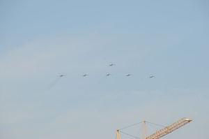ブルーインパルスの記念飛行