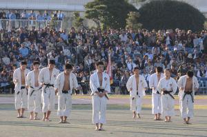少林寺拳法の演舞