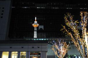 京都タワーが映りきれいです