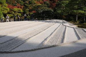 波紋を表現した銀沙灘