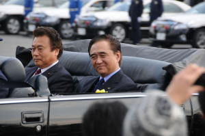 黒岩県知事と持田県議会議長