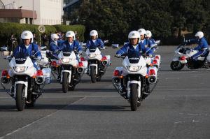 安全運動出発式でみた隊員でした