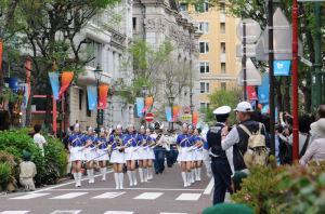 パレードの最後は横浜市消防局音楽隊