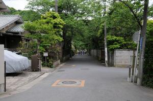 県道204号線から浄妙寺へ