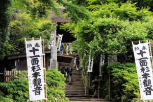右側に杉本寺があります
