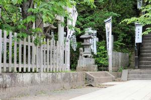 白旗神社の狛犬
