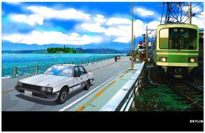 江ノ電と並走