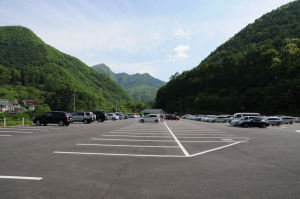 戸倉第一駐車場に到着