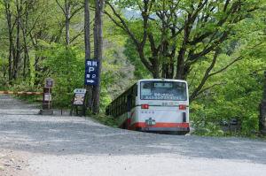 路線バスは第二駐車場へ