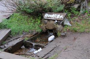 弥四郎小屋前の清水
