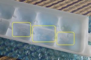 交換した製氷皿