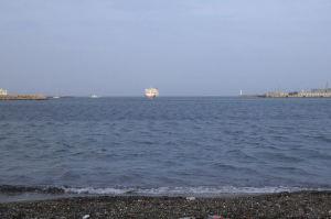 東京湾フェリーが見えてきました