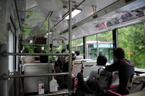 バスセンターに向かうバス車内