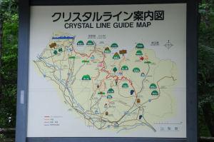 クリスタルライン案内図