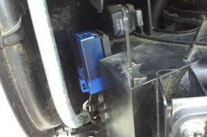 リレーASSYを車両カプラー青4極に接続
