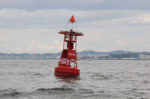 東京湾沖の根ブイ