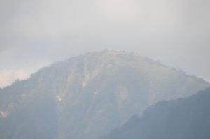 山荘が見えました