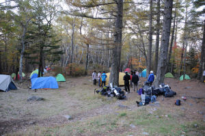 テントがたくさん