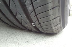 タイヤを見ると溝に