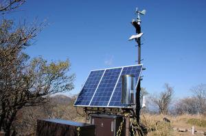 太陽光パネルがいくつか設置