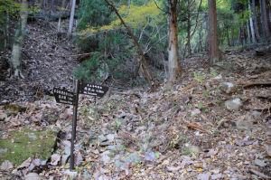 岩の道を下りてきました