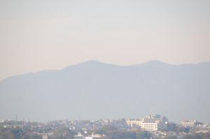 大山の稜線もみえています