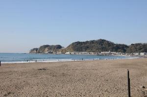 由比ヶ浜の海岸
