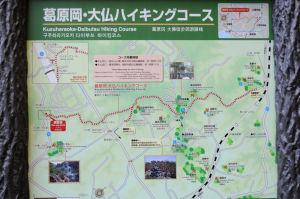 ハイキングコースの案内