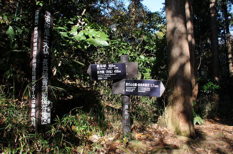 源氏山公園までは1.7Km