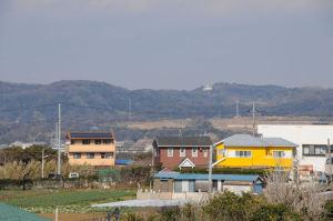 北方向に見える湘南国際村