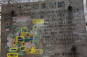 十二所果樹園の案内板