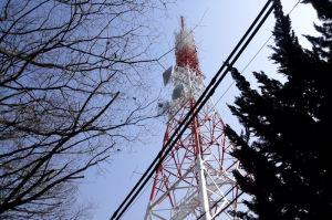 海抜153.3mにある放送塔