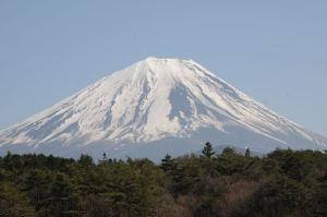 精進湖・赤池からの富士