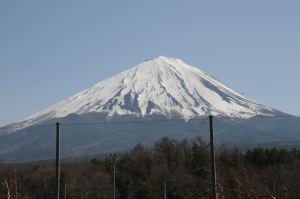 道の駅「なるさわ」からの富士山