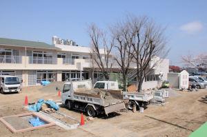新しい保育園建設中