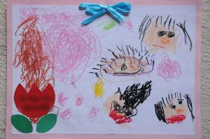 桜を見て描いた絵が