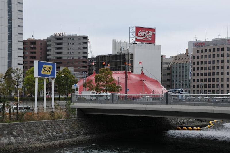 木下大サーカス横浜公演の会場