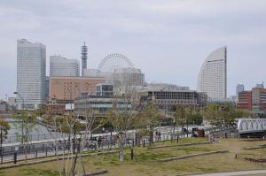 横浜を代表する風景が広がっています