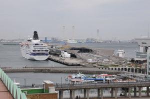 横浜港が一望