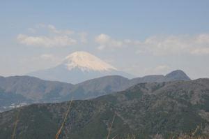 途中でみた富士山