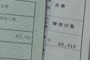 自賠責は4530円上がっています