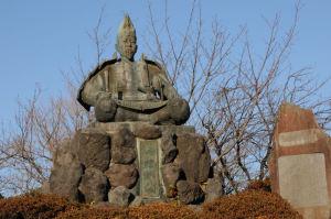 源氏山公園の「源 頼朝公銅像」