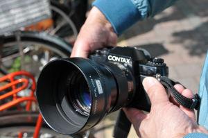 CONTAXのフイルムカメラ