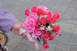 プレゼントする花束
