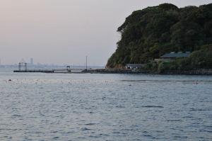 猿島の桟橋まで帰ってきました