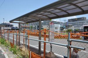 現在の駅前バスターミナル