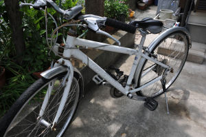 クロスバイク・タイヤ交換